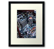 Harley engine Framed Print
