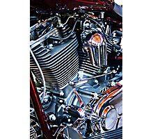 Harley engine Photographic Print