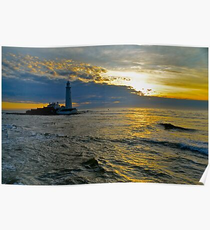 Lighthouse - Sunrise Poster