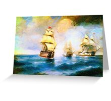 Cross fire at the sea Greeting Card