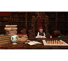 The Bookworm Photographic Print