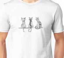 Sitting Cats Unisex T-Shirt