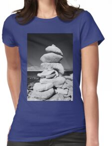 Stone tower, Halki island Womens Fitted T-Shirt