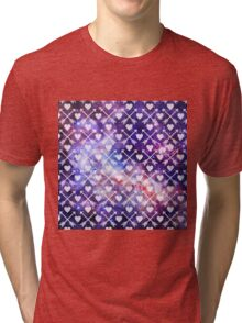 Galactic Tribal Hearts and Arrows Tri-blend T-Shirt
