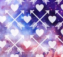Galactic Tribal Hearts and Arrows Sticker