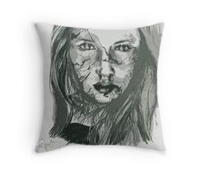 DO NOT BLINK!  Throw Pillow