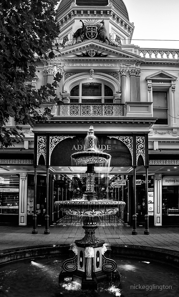 Rundle Mall Fountain Adelaide. by Nick Griffin