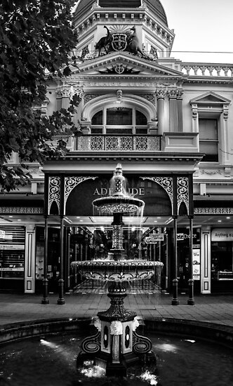 Rundle Mall Fountain Adelaide. by Nick Egglington