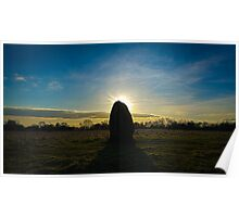 Ibstone stone sunset Poster