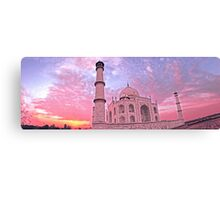 Taj Mahal Pink Sunset Canvas Print