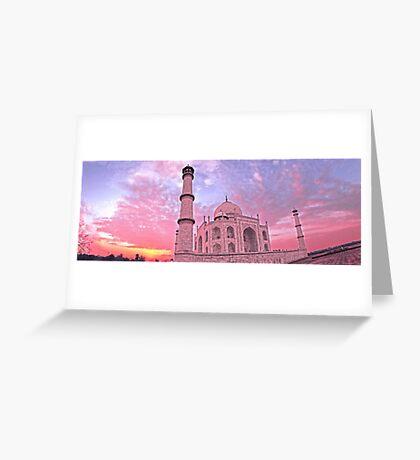 Taj Mahal Pink Sunset Greeting Card
