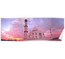 Taj Mahal Pink Sunset Poster