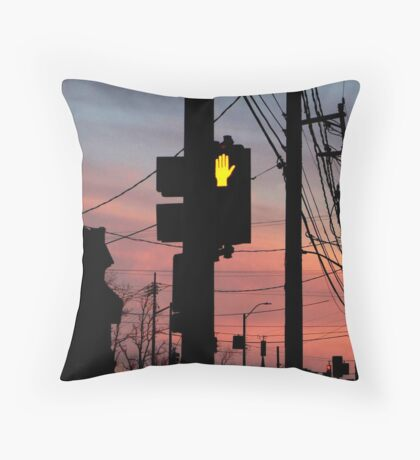 Red light stop Throw Pillow