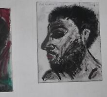 3 x Self-portraits -(2009-2010)- Canvas: Paints/Pencil by paulramnora