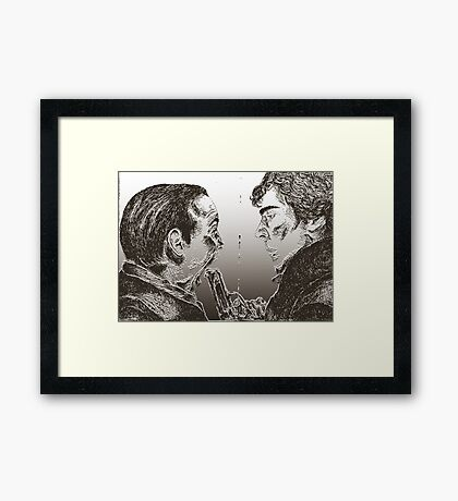 """Face off"" Framed Print"