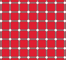 Optical illusion - dancing dots red by smute20