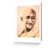Ghandi Motivation Greeting Card