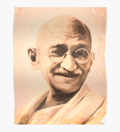 Ghandi Motivation Poster