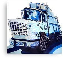 Garbage Truck Canvas Print