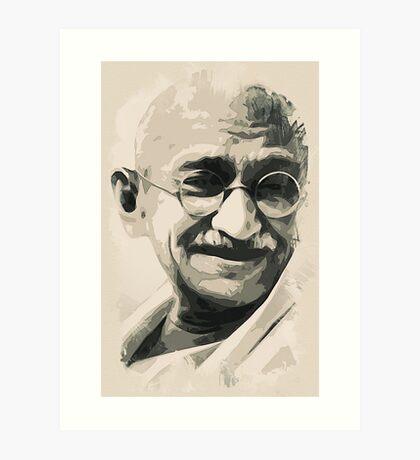 Ghandi smile Art Print