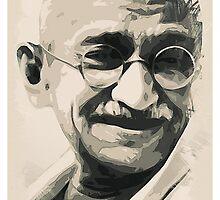 Ghandi smile by Adam Asar