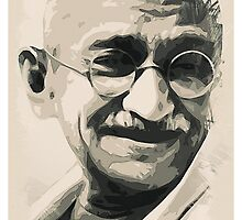 Ghandi smile by Adam Asar