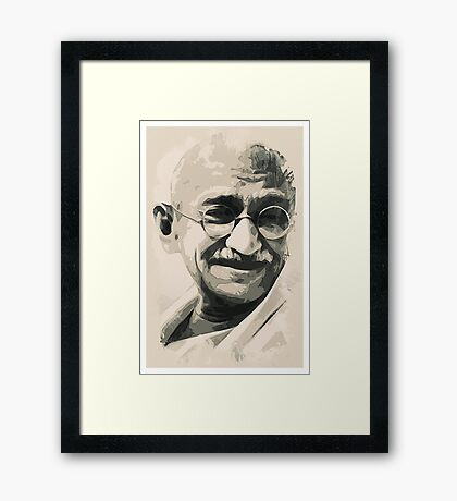 Ghandi smile Framed Print