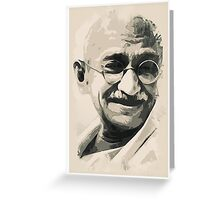 Ghandi smile Greeting Card