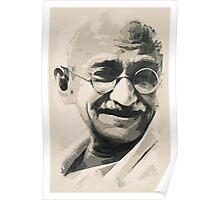 Ghandi smile Poster