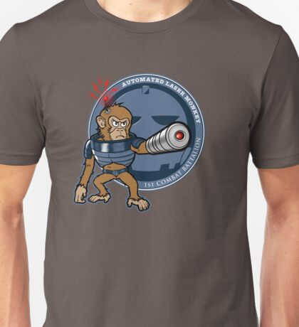 Automated Laser Monkey Unisex T-Shirt