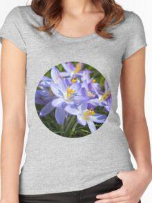 Crocus Flowers Women's Fitted Scoop T-Shirt