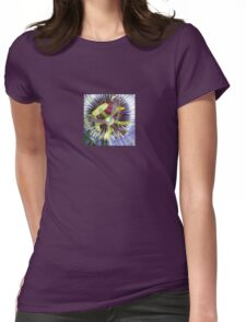 Passion Flower Close Up Womens Fitted T-Shirt
