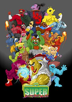 Super Sesame Street Fighter by gavacho13