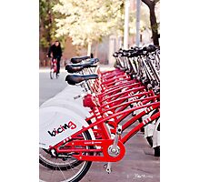 Biking in Barca Photographic Print