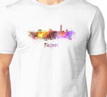 Taipei skyline in watercolor Unisex T-Shirt