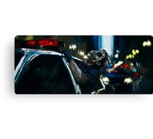 """A dog chasing cars"" Canvas Print"