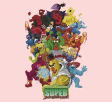 Super Sesame Street Fighter Baby Tee