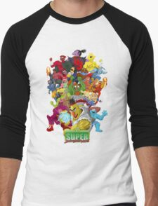 Super Sesame Street Fighter Men's Baseball ¾ T-Shirt