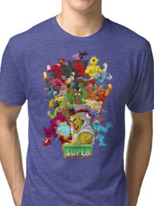 Super Sesame Street Fighter Tri-blend T-Shirt