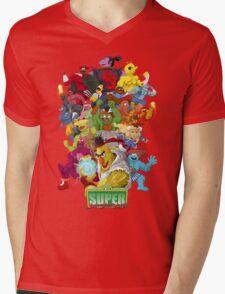 Super Sesame Street Fighter Mens V-Neck T-Shirt