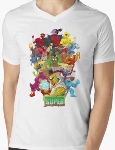 Super Sesame Street Fighter Mens V-Neck T-Shirt