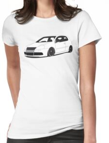 White MKV R32 Graphic Womens Fitted T-Shirt