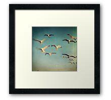 Dans avec les oiseaux Framed Print