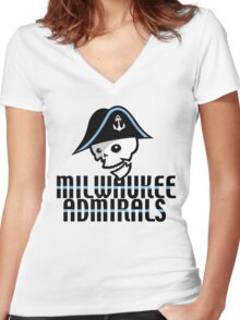 Milwaukee Admirals Women's Fitted V-Neck T-Shirt