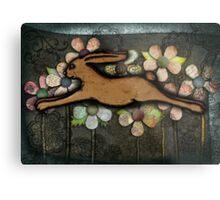 Leaping Rabbit Metal Print