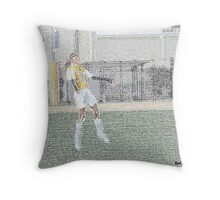 110612 051 pastel sketch soccer s Throw Pillow