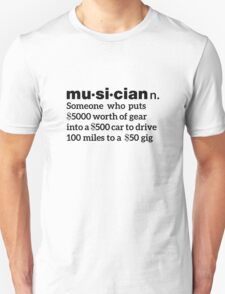 Funny Musician Definition T-Shirt
