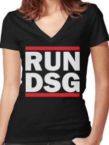 RUN DSG Graphic Women's Fitted V-Neck T-Shirt