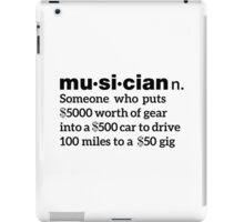 Funny Musician Definition iPad Case/Skin