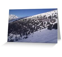 Ski mountain  Greeting Card